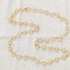 Swarovski Clear Beveled Crystal Necklace